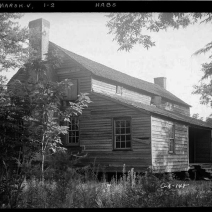 Photo credit: Library of Congress, Historic American Buildings Survey, Ward Dennis, Photographer - June, 21st, 1936 VIEW OF GABLE END AND FRONT - Marshallville, Macon County, GA