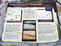 Fort Mountain Plaque