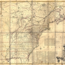 "The Mitchell Map, published by John Mitchell on February 13th, 1755 as, ""A Map of the British and French Dominions in North America."""